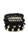 "Ettika Womens ""All The Glitz"" Stack Bracelets"