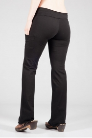 Tara Raw Edge Black Pant