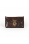 WILL Leather Goods EVA Vintage Leather Clutch